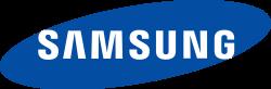 Samsung logo blue colors