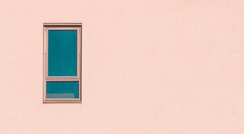 Single window on a wall