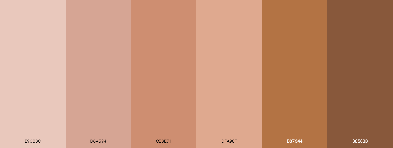 Skin Improvement Tones Color Scheme