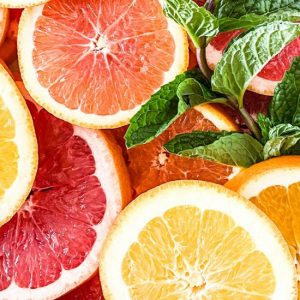 Fresh citrus fruit slices