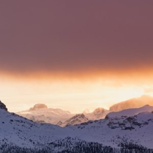 Snow Mountain Sunrise