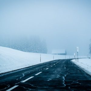 Snowy Road In Winter image color combination