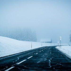 Snowy Road In Winter image color combination