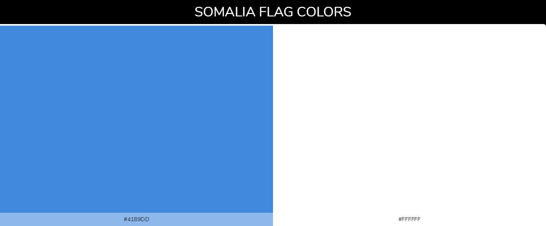 Somalia country flag color codes - Blue #4189dd, White #ffffff
