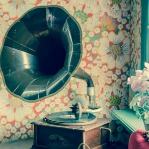 Gramophone in a vintage settings