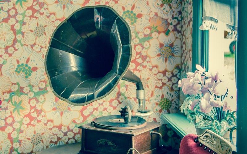 Gramophone in a vintage settings