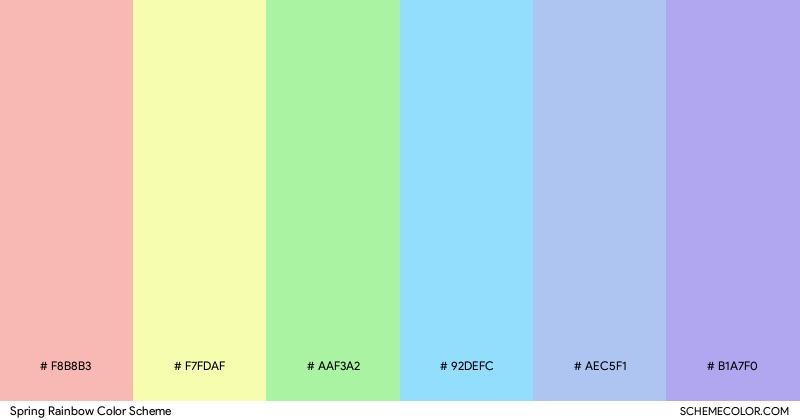 Spring Rainbow color scheme