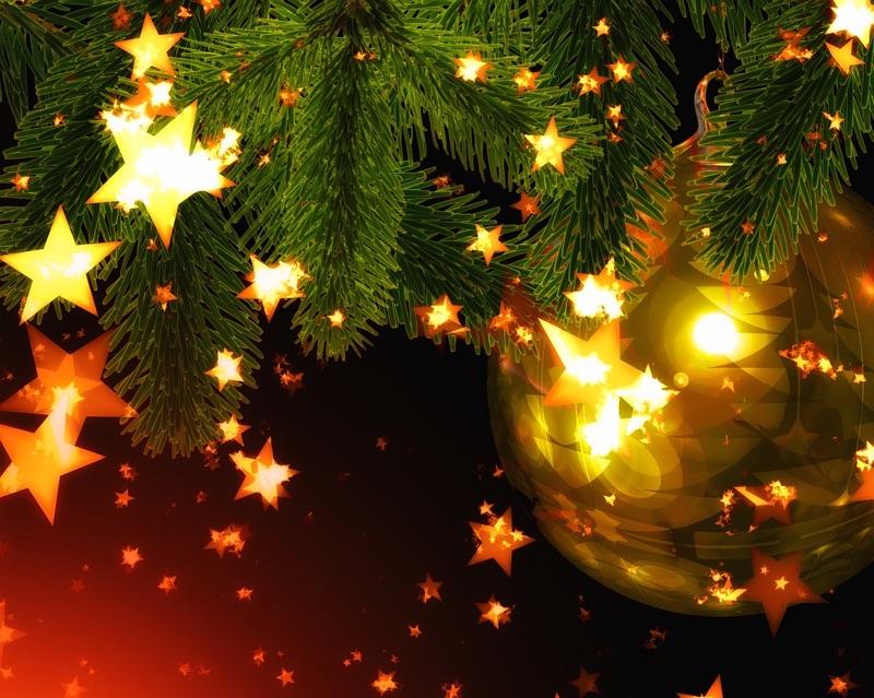 Stars on Christmas color scheme