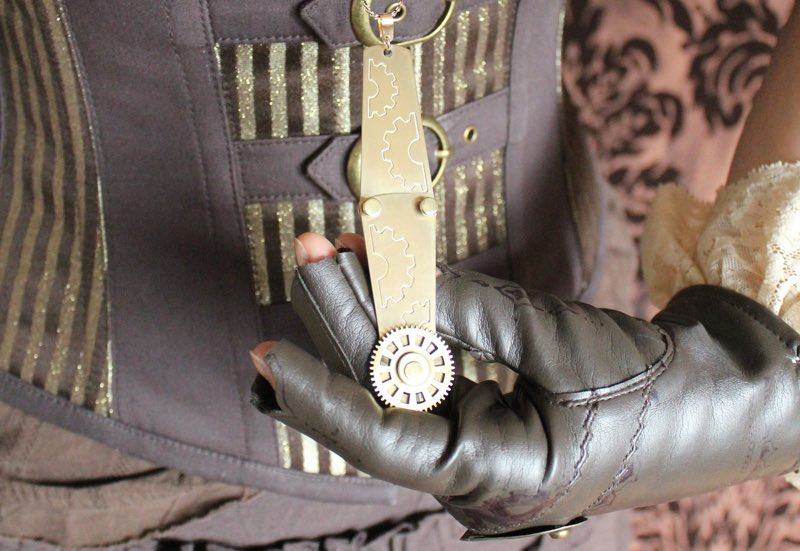 Steampunk jacket, gloves and accoutrement