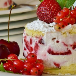 Strawberry and Cherry Cake