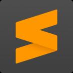 Sublime Text editor Logo, Orange and Gray