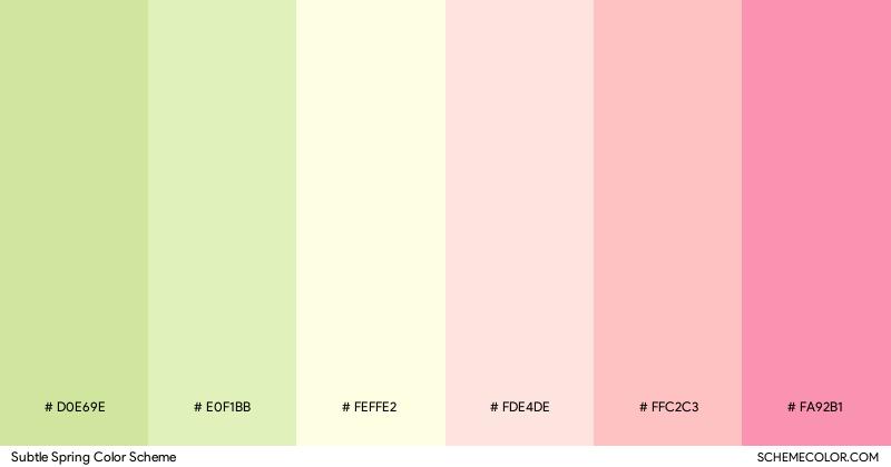 Subtle Spring color scheme
