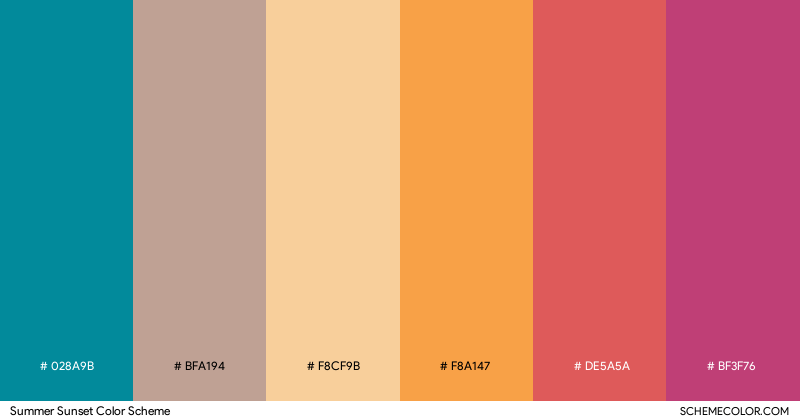 Summer Sunset color scheme