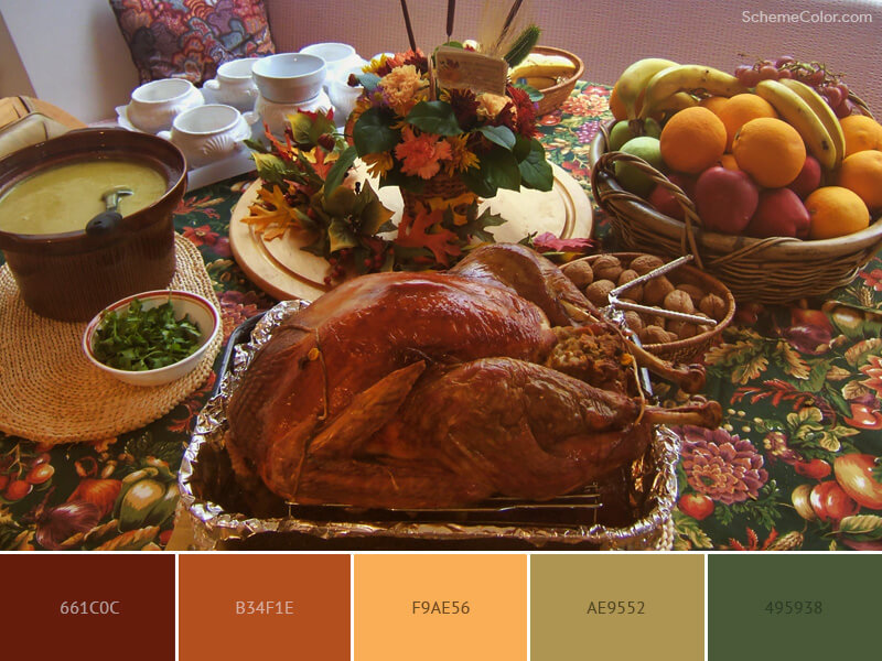Thanksgiving Meal with Turkey