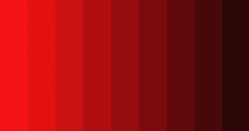 Attractive Red Monochromatic Color Palettes