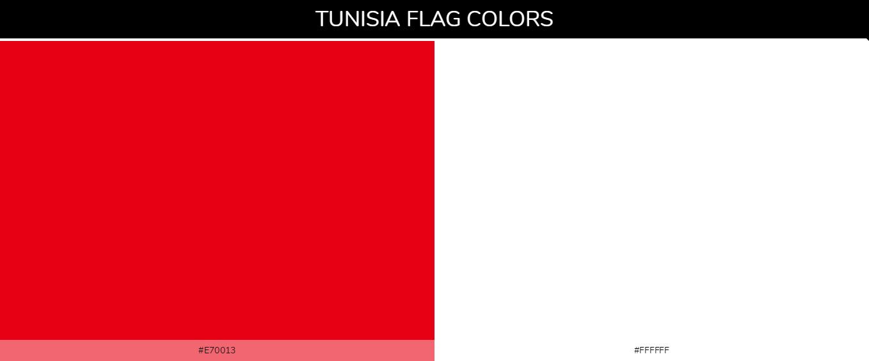 Tunisia country flag color codes - Red #e70013, White #ffffff