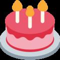 Twitter Birthday Cake Emoji