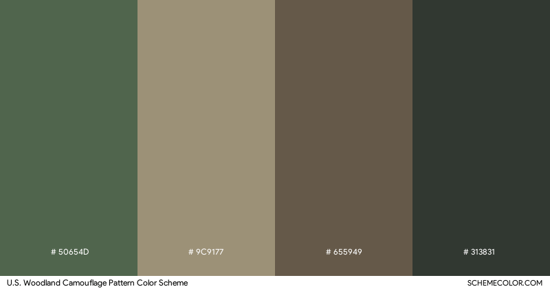U.S. Woodland Camouflage Pattern color scheme