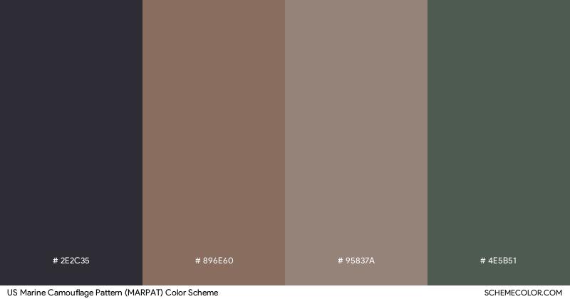 US Marine Camouflage Pattern (MARPAT) color scheme