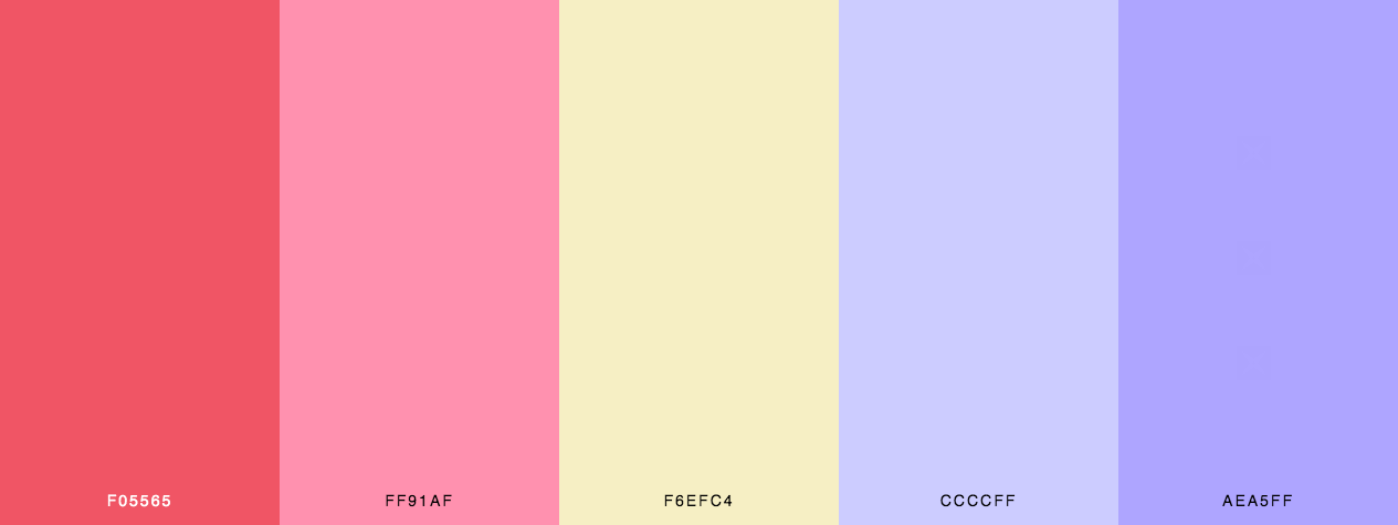 Valentine angel color palette