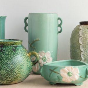 Various Green Vases