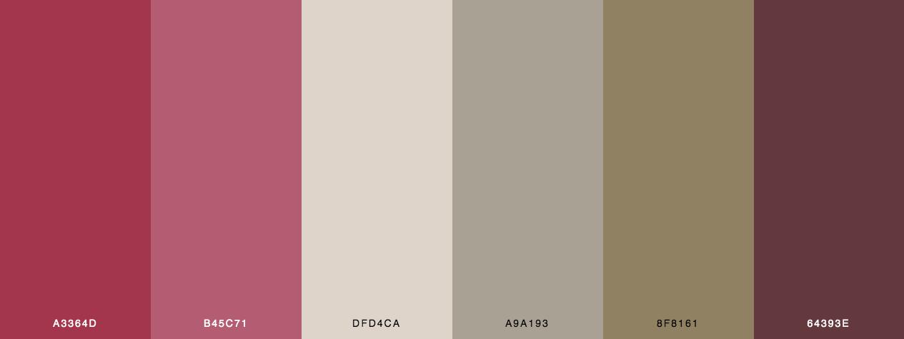 Vintage valentine color palette