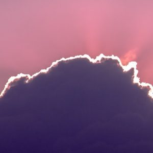 Violet Hues in the Clouds