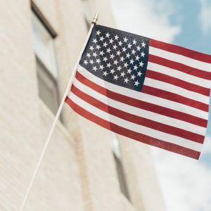 Waving flag of United Stated of America