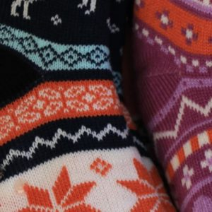 Colorful winter socks