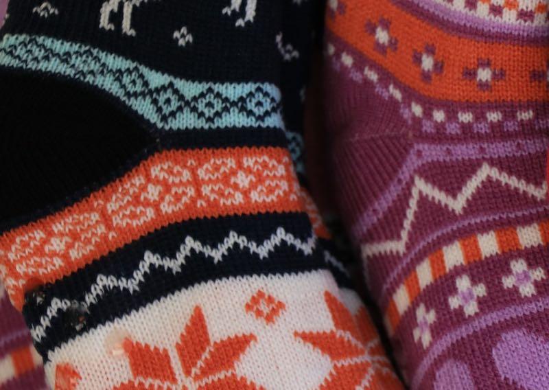 Colorful winter socks